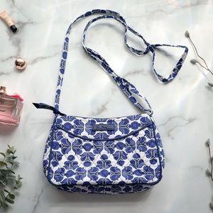 Vera Bradley quilted crossbody bag blue white